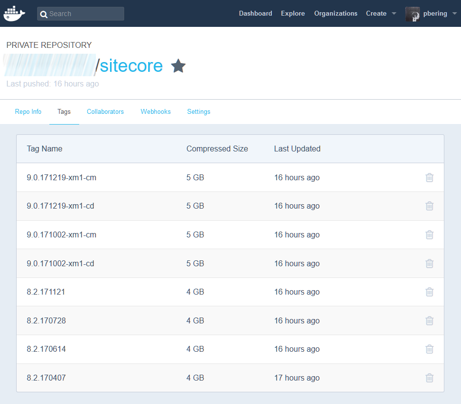 Sitecore Docker image repository